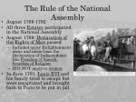 the rule of the national assembly