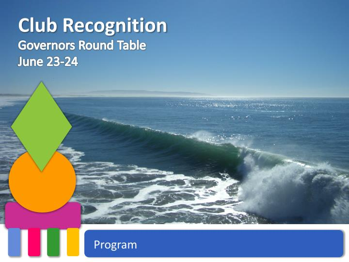 club recognition n.