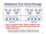 databases over cloud storage