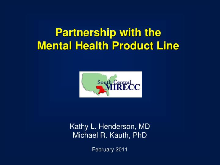 partnership with the mental health product line n.