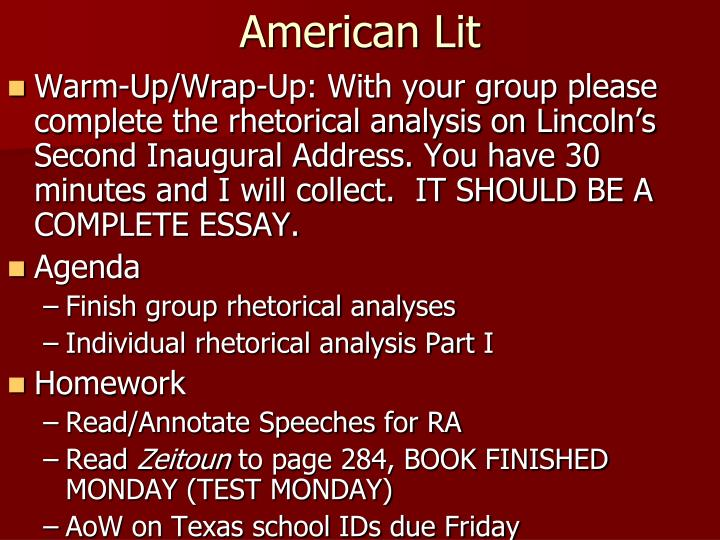 analysis of lincoln