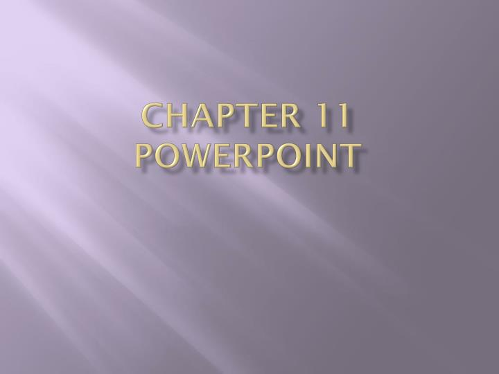chapter 11 powerpoint n.