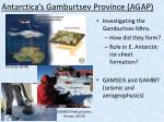 antarctica s gamburtsev province agap