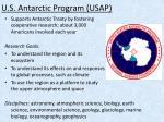 u s antarctic program usap
