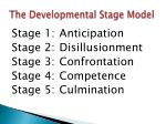 the developmental stage model