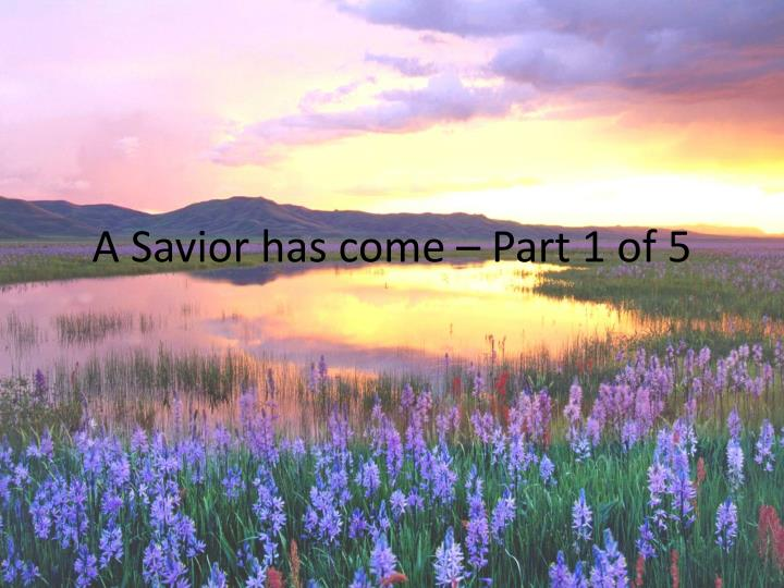 a savior has come part 1 of 5 n.