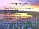 calling all disciples