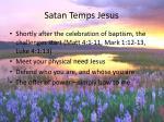 satan temps jesus