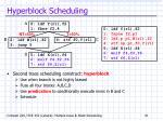 hyperblock scheduling