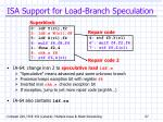 isa support for load branch speculation