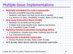 multiple issue implementations