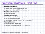 superscalar challenges front end