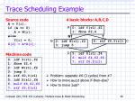 trace scheduling example