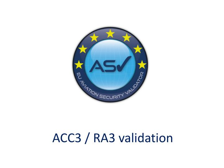 acc3 ra3 validation n.