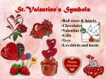 st valentine s symbols