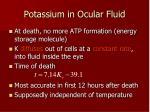 potassium in ocular fluid
