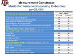 measurement constructs students perceived learning outcomes n 28 681