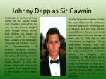 johnny depp as sir gawain