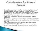 considerations for bisexual persons