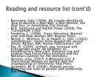 reading and resource list cont d1