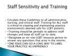 staff sensitivity and training