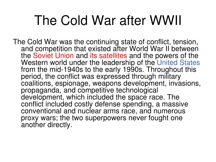 the cold war after wwii n.