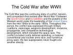 the cold war after wwii