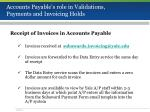 accounts payable s role in validations payments and invoicing holds