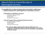 school s role in central receipt of subrecipient invoices