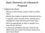 basic elements of a research proposal2