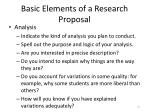basic elements of a research proposal5