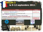 fran ais 2 le 9 12 septembre 2011