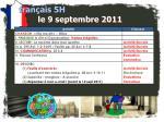 fran ais 5h le 9 septembre 2011