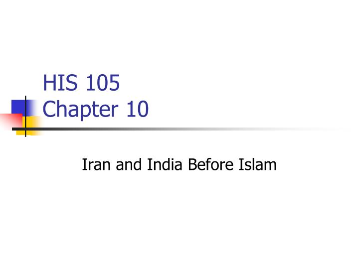 his 105 chapter 10 n.