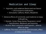 medication and sleep