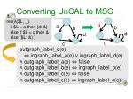 converting uncal to mso