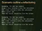 scenario outline refactoring