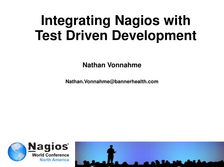 integrating nagios with test driven development n.