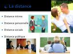 4 la distance