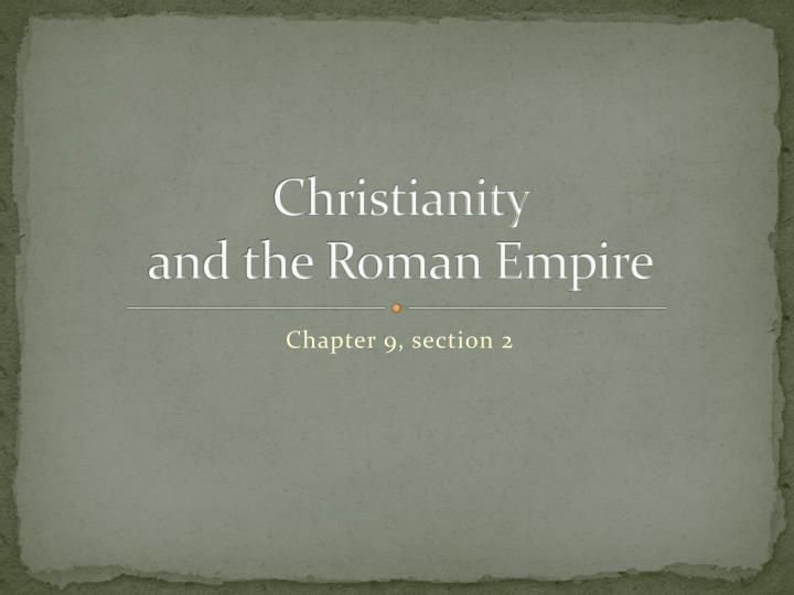 christianity and the roman empire n.