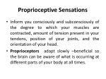 proprioceptive sensations