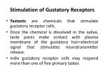 stimulation of gustatory receptors