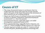 causes of et