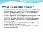 what is essential tremor