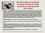 communication et inventivit le premier num ro de valmy compos sur une imprimerie pour enfant