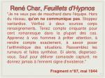 ren char feuillets d hypnos