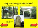 step 2 investigate their beliefs