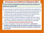 pensiones en la reforma tributaria 20126