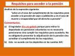 requisitos para acceder a la pensi n