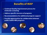 benefits of map